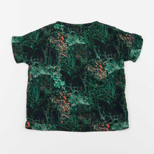 Load image into Gallery viewer, v-neck tshirt blouse - jangal forest