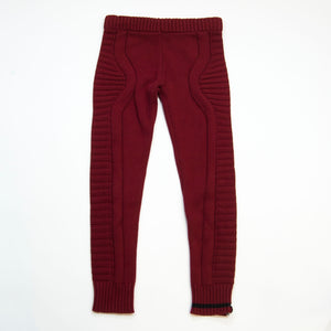 knit legging - burgundy
