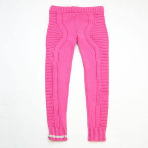 knit legging - pink