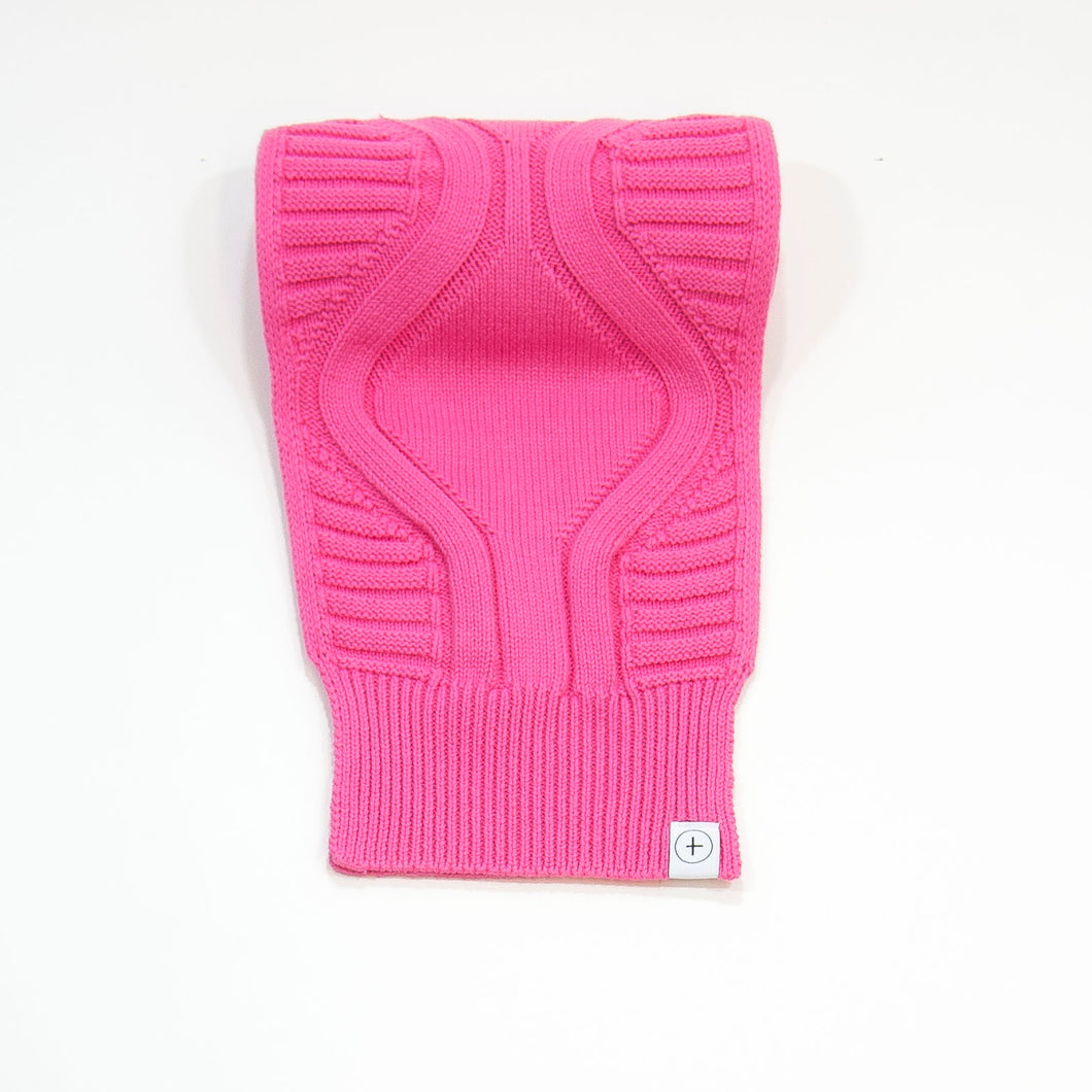 knit scarf - pink