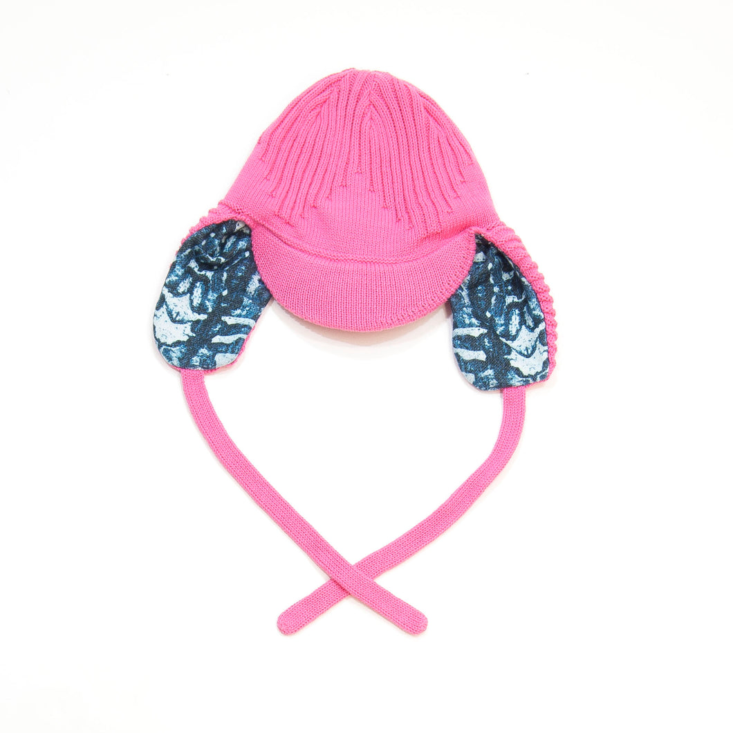 knit hat - pink