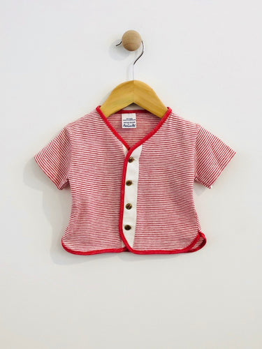 button up tee / 12m