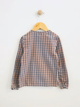 Load image into Gallery viewer, gingham henley top / 6Y