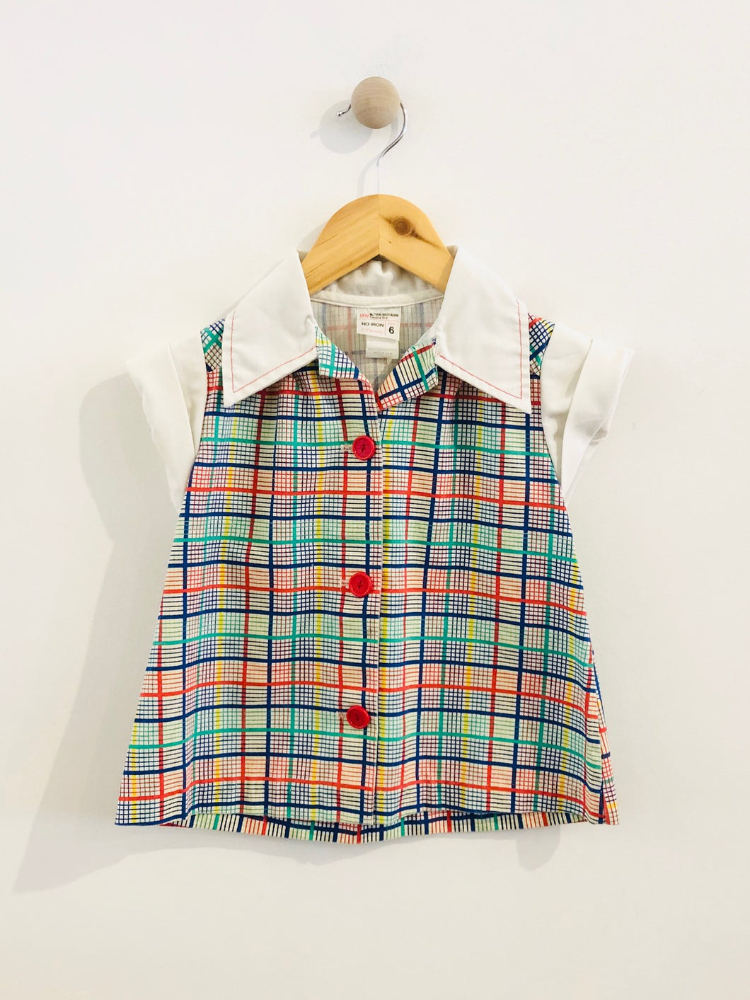 plaid button up / 5Y