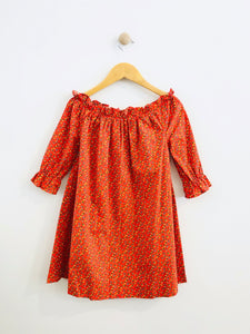 off the shoulder dress / 6-8Y