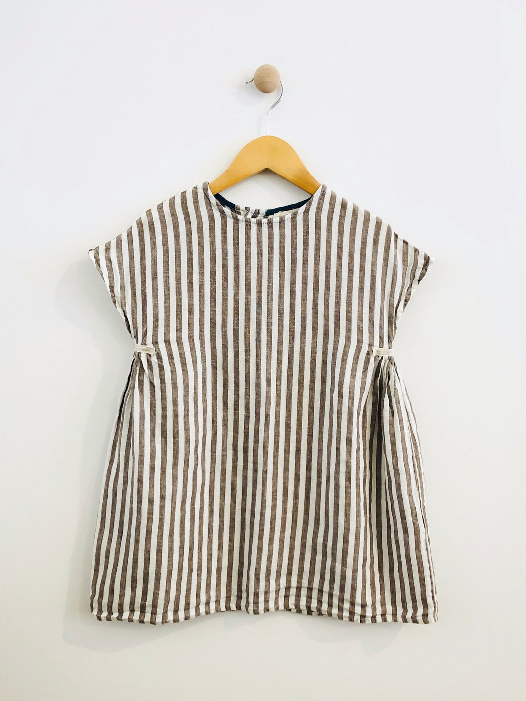 striped dress / 6-7Y