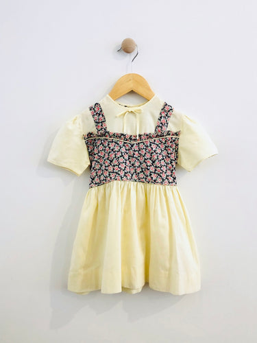 floral combo dress / fits 2T