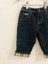 Load image into Gallery viewer, plaid lined jeans / 6m