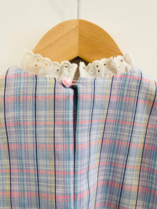 plaid blouse / 12m
