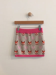 fox knit skirt / 2-4y