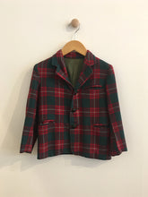 Load image into Gallery viewer, plaid blazer / fits 5Y