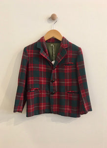plaid blazer / fits 5Y