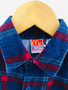 cropped plaid button-up / 4T