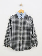 Load image into Gallery viewer, plaid combo button up / 8Y