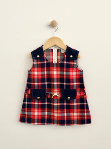 plaid dress / 2T