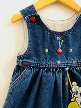 Load image into Gallery viewer, mouse & clock denim dress / 12-24m