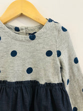 Load image into Gallery viewer, polka dot combo dress / 18-24m