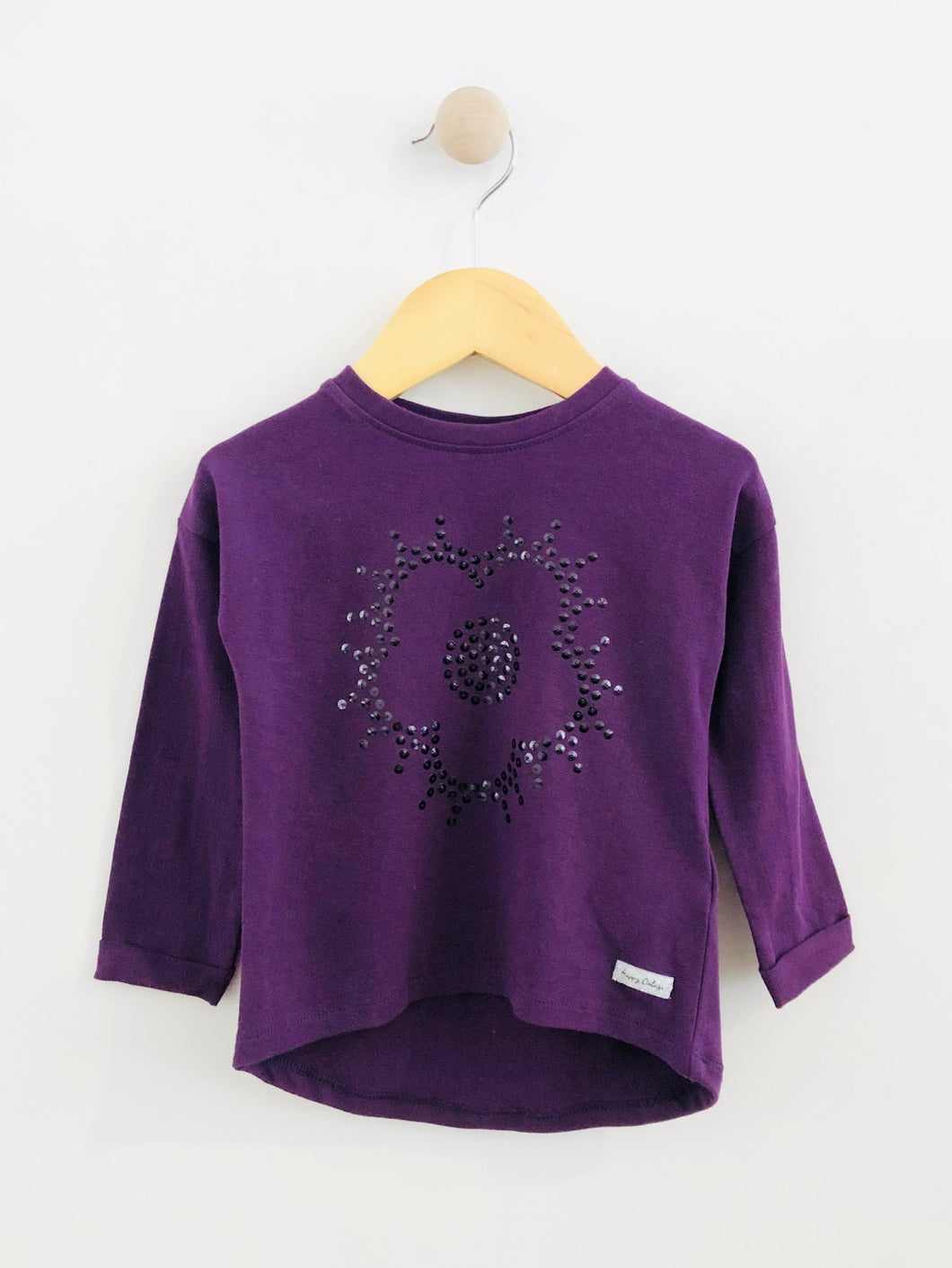 sequin flower tee / 12-18m