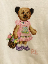 Load image into Gallery viewer, embroidered bear sweater / 24m