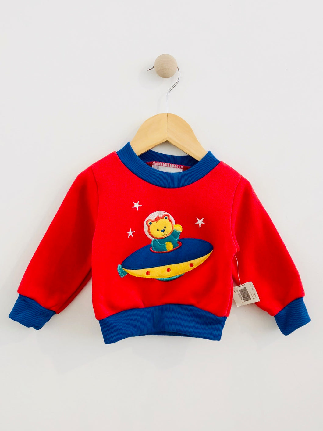 UFO bear sweatshirt / 12m