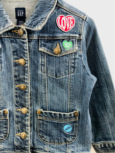 patch denim jacket / 5Y