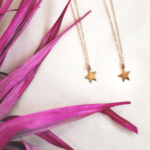 brass star necklace / child + adult