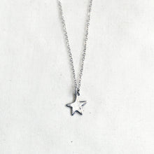 Load image into Gallery viewer, silver star necklace / child + adult