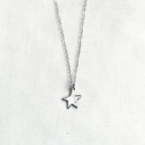 silver star necklace / child + adult