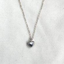 Load image into Gallery viewer, silver heart necklace / child + adult