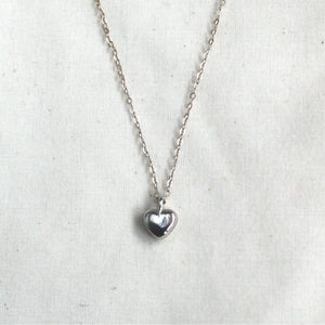 silver heart necklace / child + adult