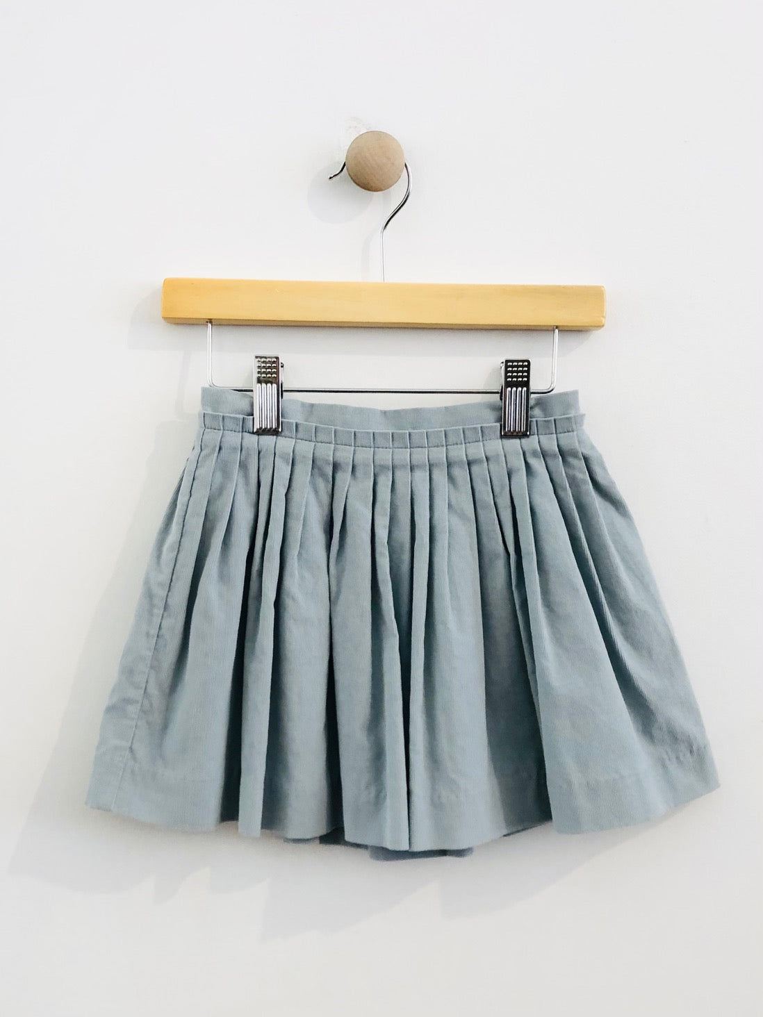 pleated micro cord skirt / 3T