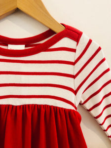 striped dress set / 12-18m