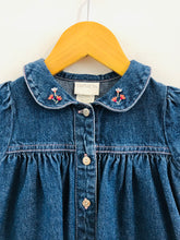 Load image into Gallery viewer, denim bunny dress / 6-9m