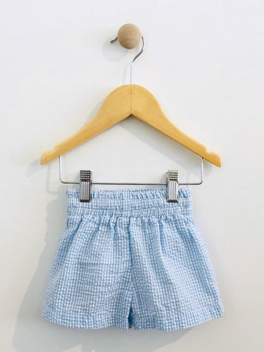 gingham seersucker shorts / 3m
