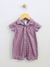 Load image into Gallery viewer, plaid short jumpsuit / 9m