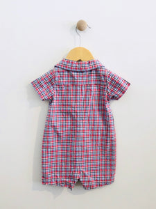 plaid short jumpsuit / 9m