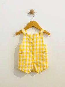gingham overall / 0-6m