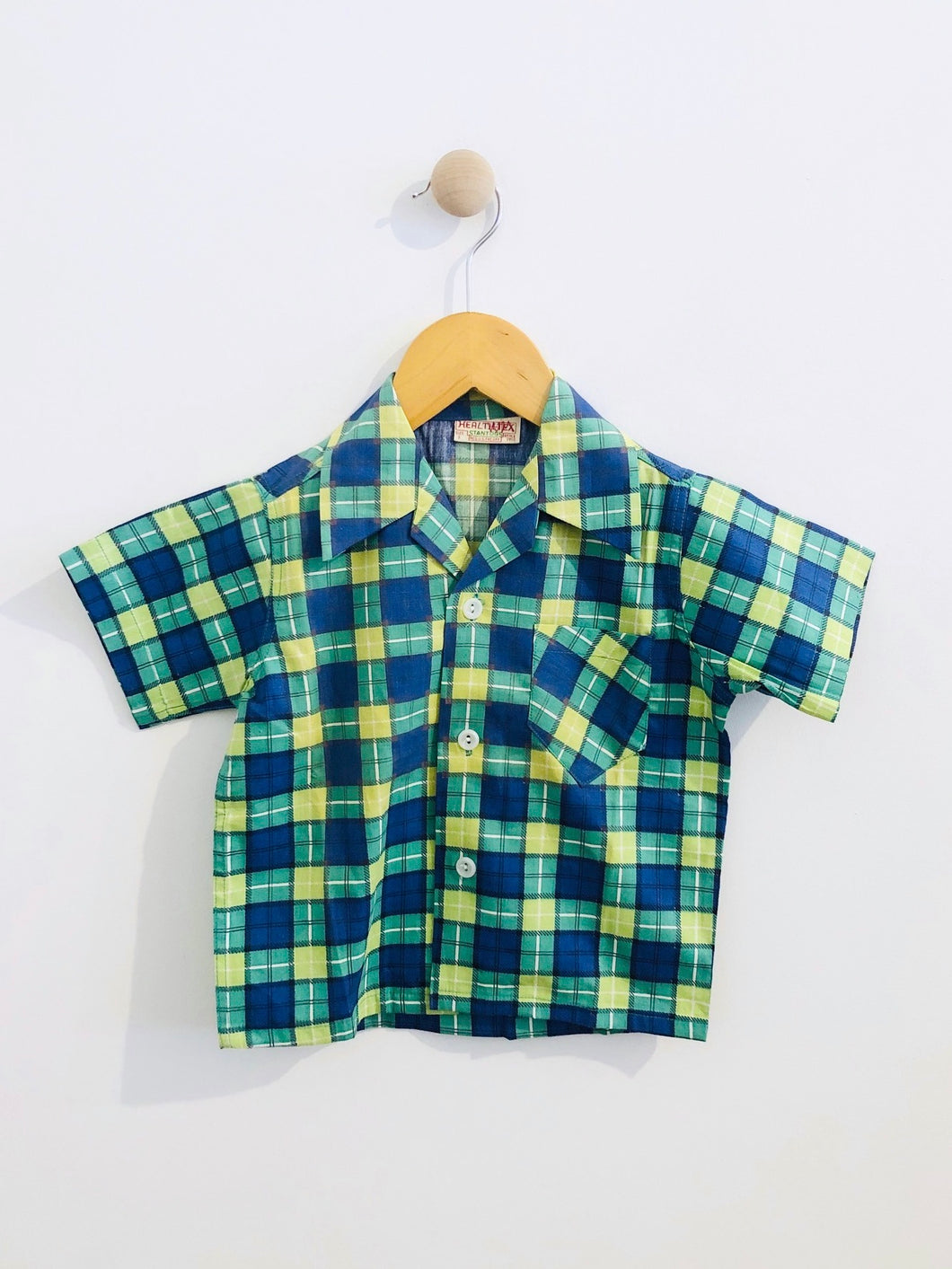 plaid button up / 3T