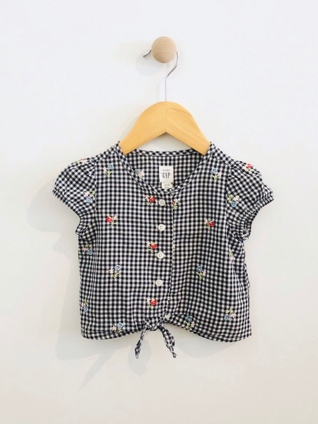 gingham button up / 12-18m