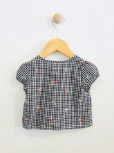 Load image into Gallery viewer, gingham button up / 12-18m