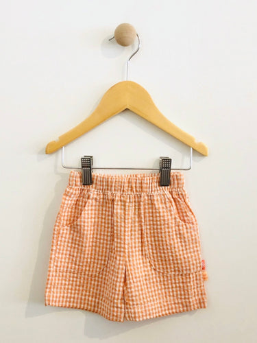 gingham seersucker shorts / 6m