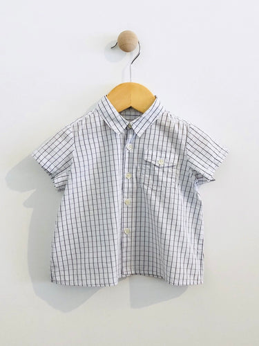 plaid button up / 12m