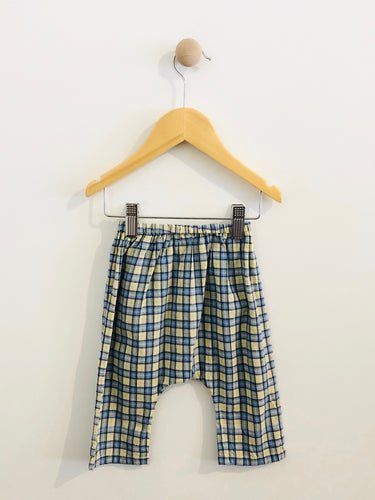 plaid pull on pant / 6m