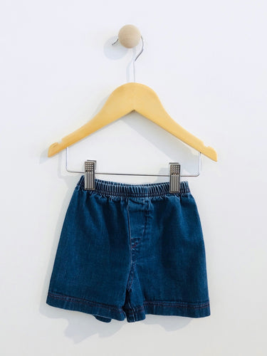 denim shorts / 6-9m