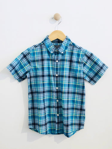 plaid button up / 5-6Y