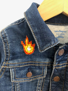 """fierce"" embroidered denim jacket / 18-24m"