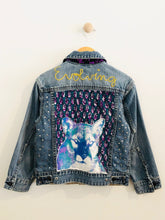 "Load image into Gallery viewer, ""evolving"" embroidered denim jacket / 6-7Y"