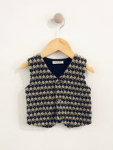 Load image into Gallery viewer, knit combo vest / 12m