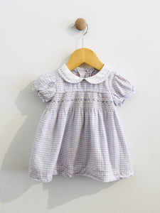 gingham dress & bloomers / 3-6m