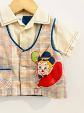 Load image into Gallery viewer, clown vest button up / 3-9m